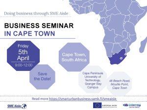 SME Aisle Business seminar in Cape Town 5.4.2019